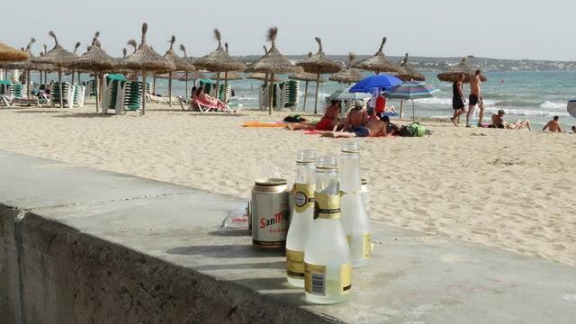Alkoholika am Strand.