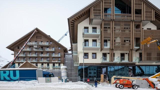 Blick auf das Hotel Chedi in Andermatt.