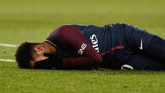 Neymar verletzte sich gegen Marseille.