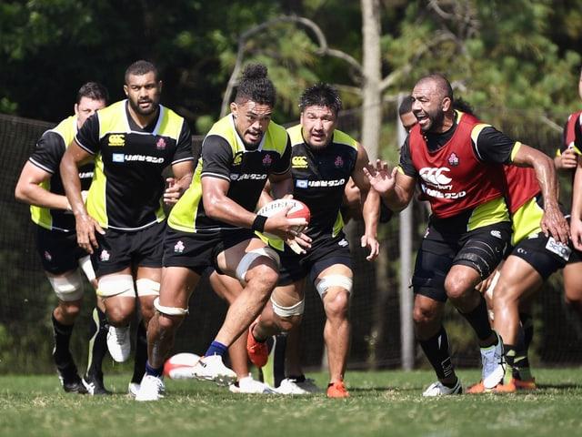 Die japanische Rugby-Nati im Training.