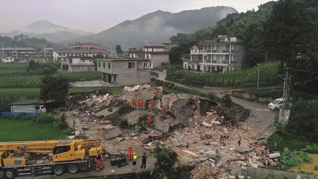 Lage nach dem Erdbeben in der Sichuan-Provinz in China