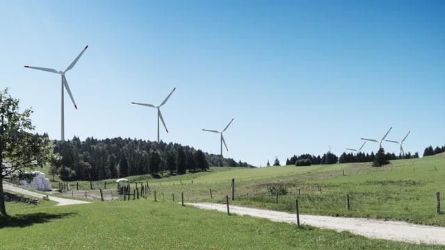 Visualisierung eines Windparks