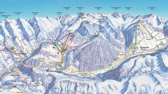 Panorama der Diemtigtal-Bergbahnen