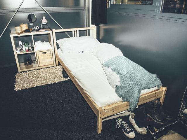 Nik Hartmanns Schlafplatz