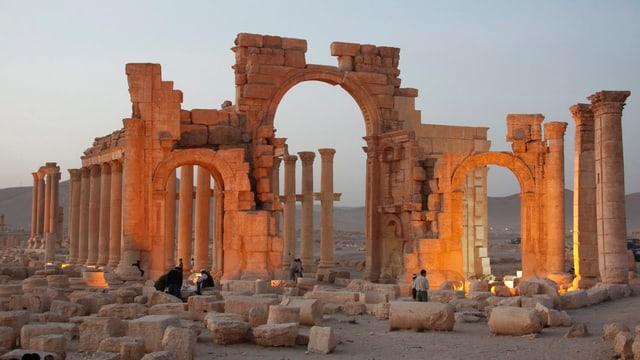 Die antike Ruinen-Stätte Palmyra in einer Aufnahme von 2010