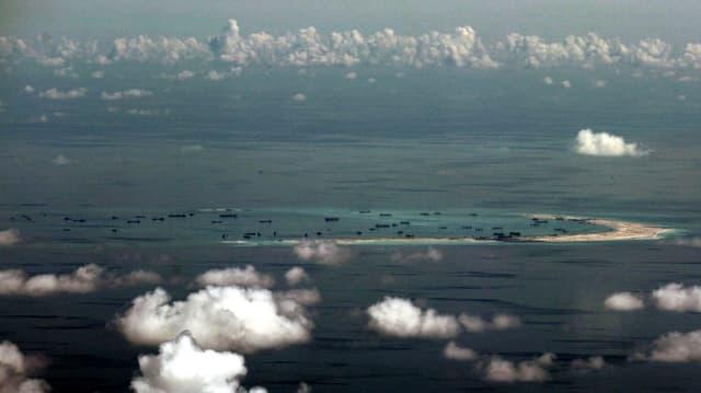 Künstliche Insel im Südchinesischen Meer.