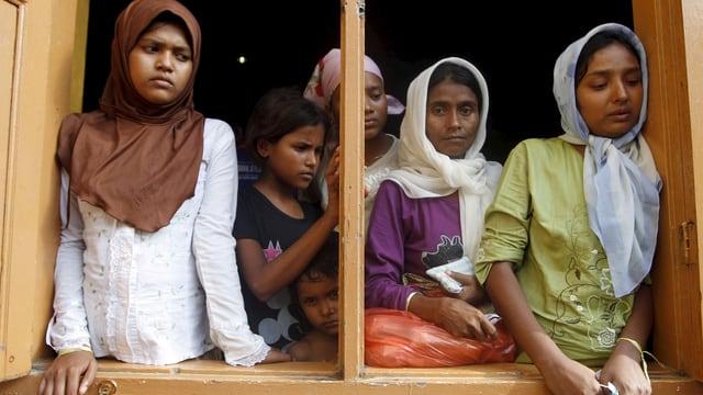 Flüchtlinge in einer Unterkunft in der indonesischen Provinz Aceh.