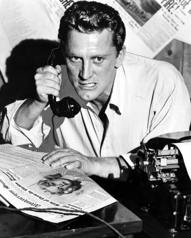 Kirk Douglas als «Reporter des Satans» in «Ace in the Hole» (1951).