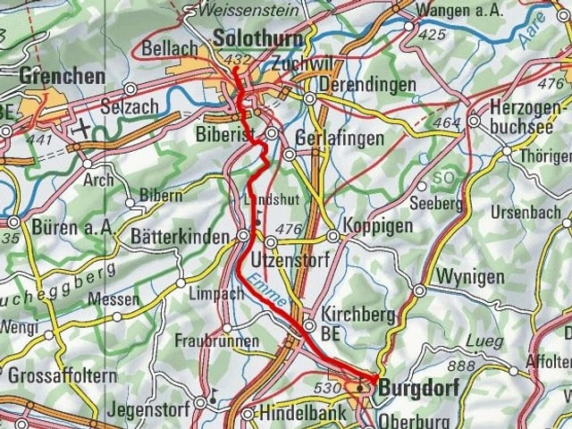 Etappe 7: Solothurn – Burgdorf