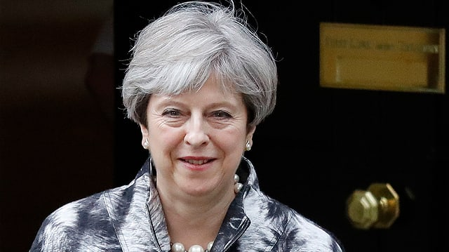 Purtret da la primministra Theresa May.