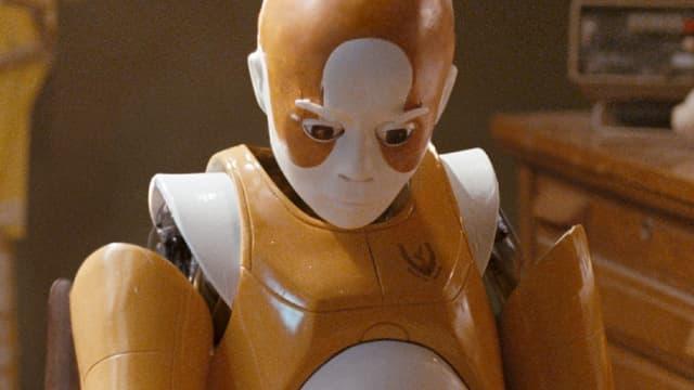 Ein Roboter.