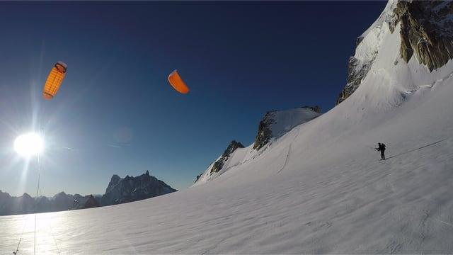 Video «Mit dem Snowkite auf dem Mont Blanc» abspielen