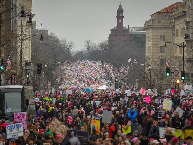 Demonstrationszug in Washington D.C.