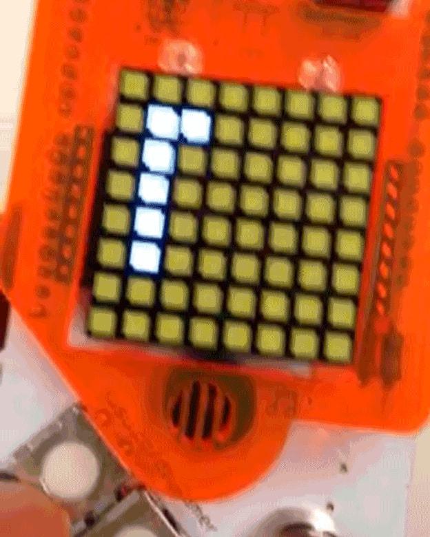 Das Display einer Spielkonsole.