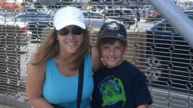 Caroline Winhofer mit ihrem Sohn