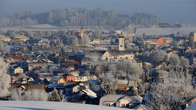 Stadt Gossau im Winter