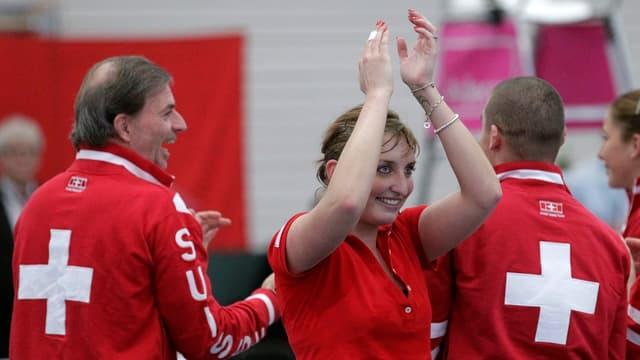 Timea Bacsinszky führt die Schweiz zum Ligaerhalt.