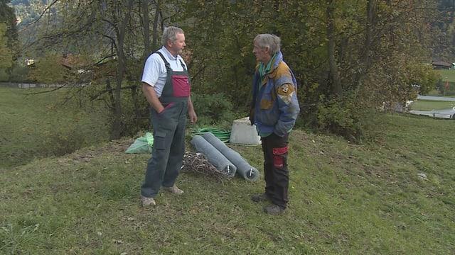 Il cultivatur da plantas Ruedi Glauser ed il pur Toni Columberg