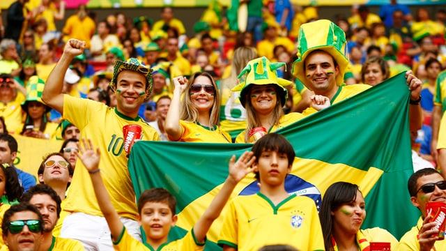 Brasilianische Fans sorgen für tolle Stimmung in den Stadien