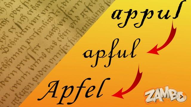 Wie aus «appul» «Apfel» wurde