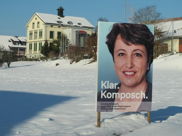 Ein Wahlplakat von Cornelia Komposch