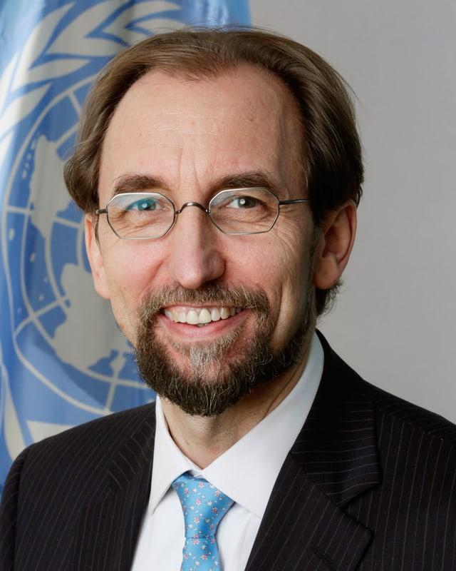 Porträt von Zeid al-Hussein.