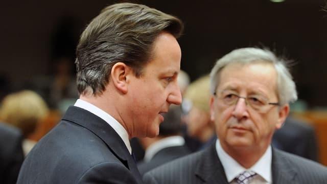 Cameron, Juncker und Rütte in einer Gesprächsrunde.