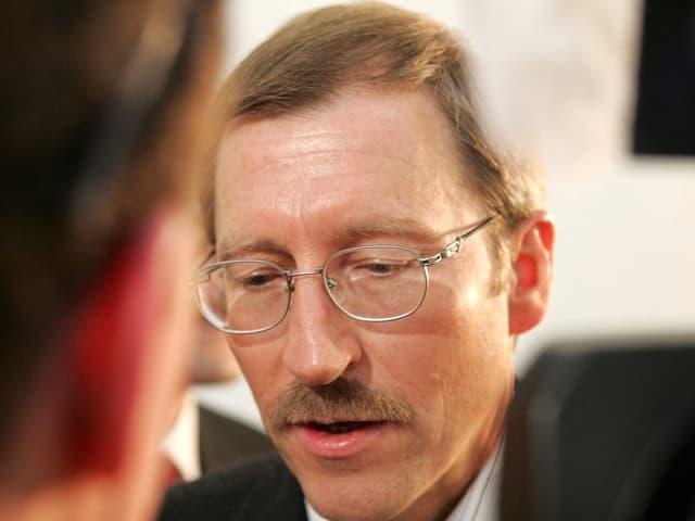 Damaliger Basler Regierungsrat Hans Martin Tschudi