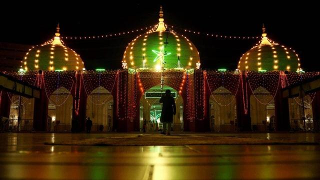 Dekorierte Moschee in Karachi, Pakistan