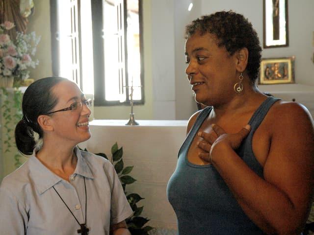 Ordensschwester mit Cicera