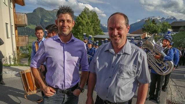 Curdin Capeder (sen.) e Stefan Schmid