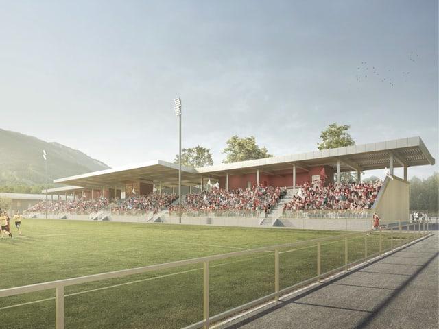 Visualisierung Fussballstadion
