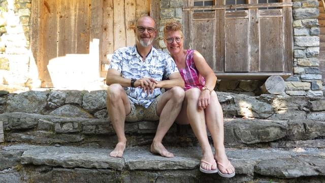 Tom und Babs Schweizer auf dem Tellspiel-Gelände.
