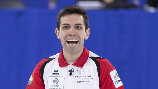 Il curlist svizzer Peter De Cruz.