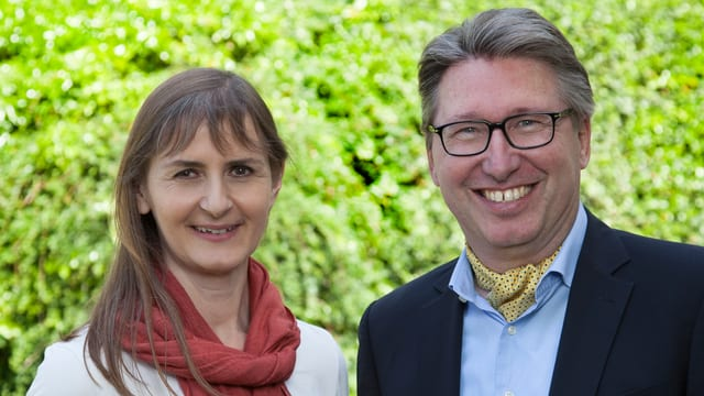 Sibylle Jean-Petit-Matile und Hans Peter Stutz.