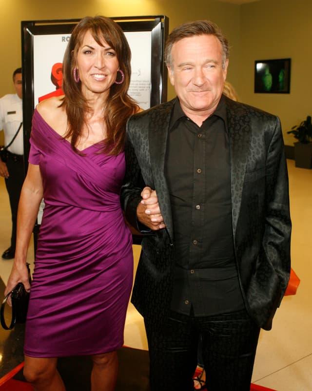 Archivbild von Robin Williams mit seiner Ehefrau Susan Schneider Williams.