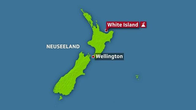 Karte Neuseeland.