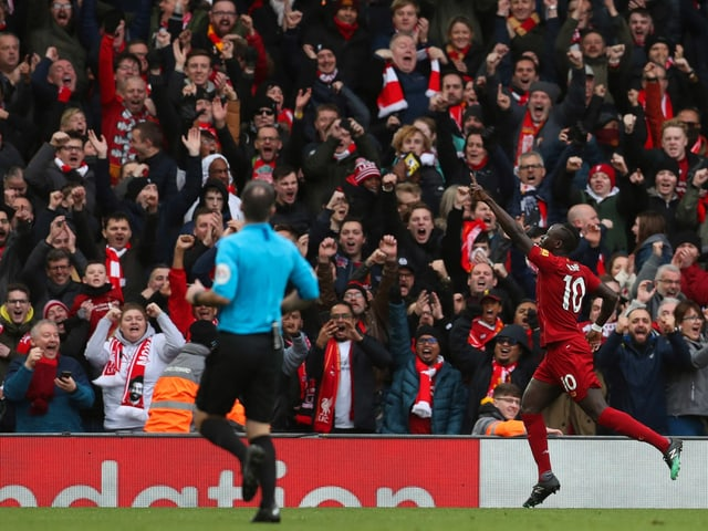 Liverpool-Fans jubeln.