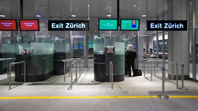 Passkontrolle Flughafen Zürich