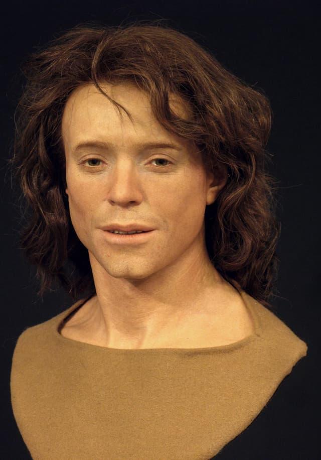 Das rekonstruierte Gesicht von Adelasius.