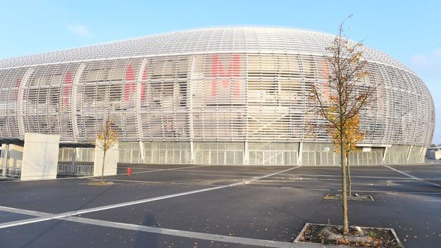 Aussenansicht des Stadions von Lille.