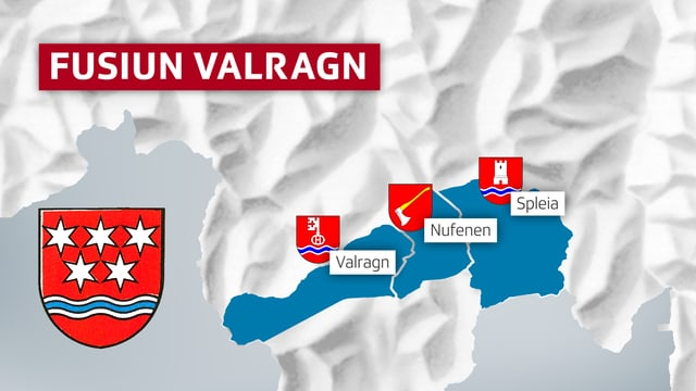Carta da las trais vischnancas (Valragn, Nufenen, Spleia) che furman la vischnanca Valragn.