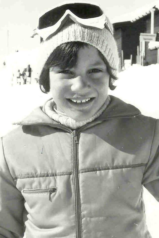Skifahren auf Klosters-Madrisa. Mein grosses Vorbild: 1972-Sapporo-Sieger Bernhard Russi.