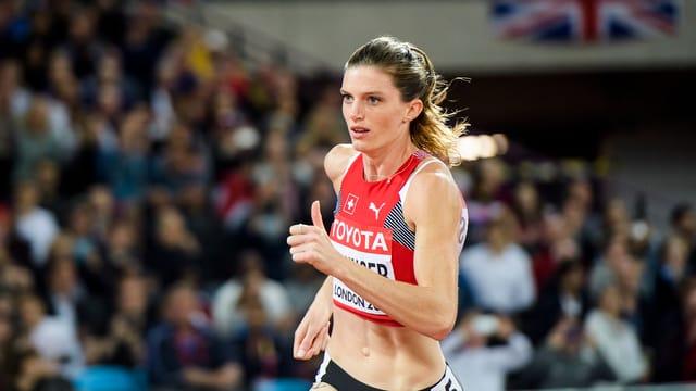 L'atleta svizra Lea Sprunger
