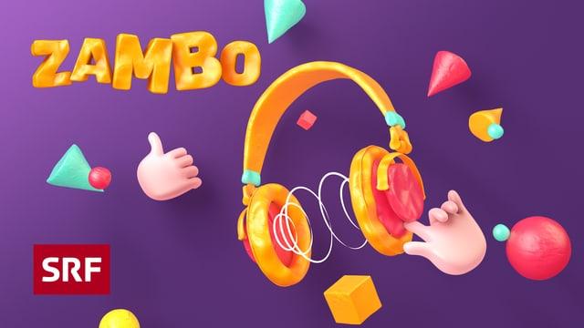 Logo der SRF Kindersendung Zambo mit farbigem Kopfhörer