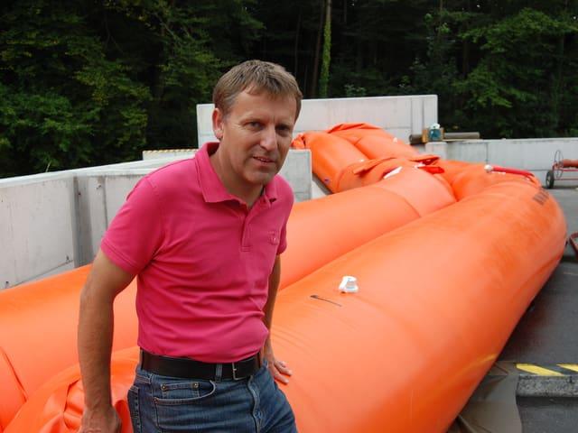 Der Gastgeber der Hochwasserschutz-Tagung: Martin Jordi von der Vereinigung der kantonalen Feuerversicherungen.