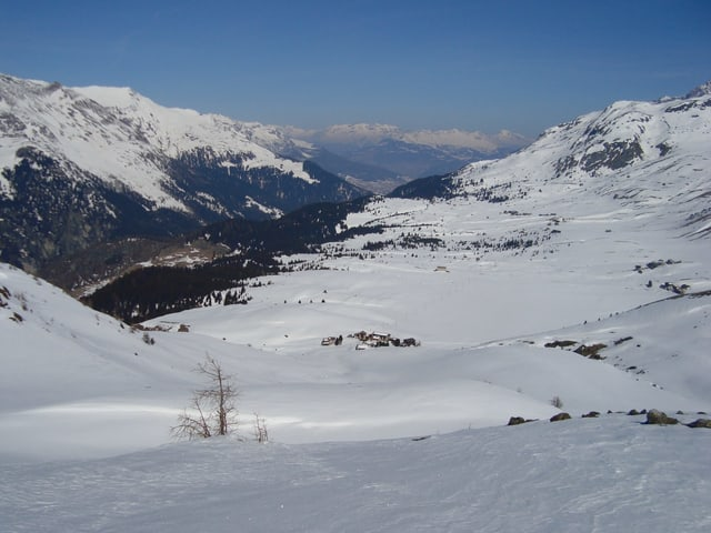 Aussicht auf eine Schneelandschaft.