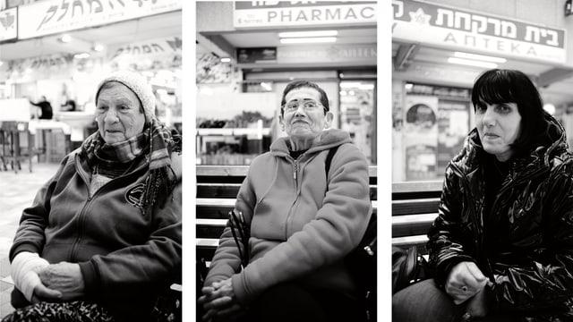 Die drei Frauen im Einkaufszentrum (Collage)