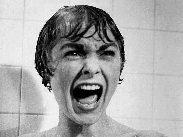 Janet Leigh in der berühmten Duschszene in «Psycho» von Hitchcock.