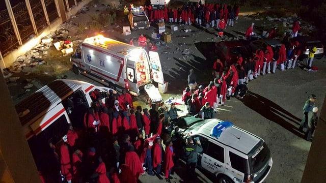 Ils fugitivs arrivan a Ceuta.